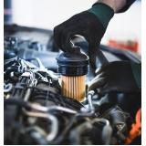 troca de filtro de óleo automotivo